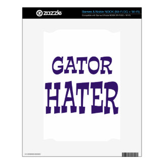 Gator Hater Blue design NOOK Skins