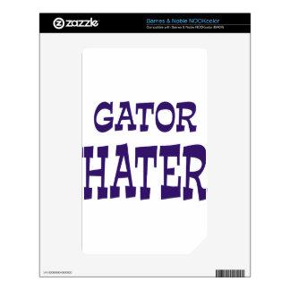 Gator Hater Blue design Skins For NOOK Color