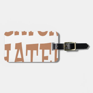 Gator Hater Bronze design Luggage Tag