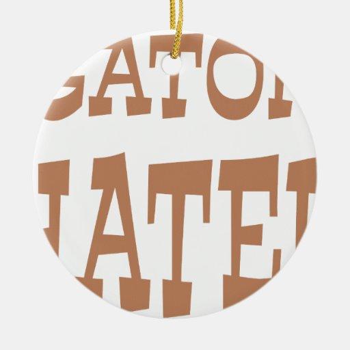 Gator Hater Bronze design Christmas Tree Ornament
