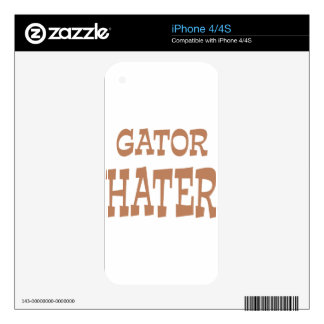 Gator Hater Bronze design Decal For iPhone 4