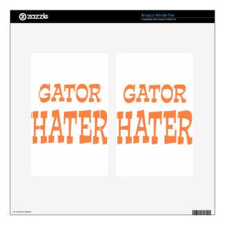 Gator Hater Burnt Orange design Kindle Fire Decals