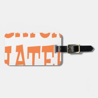 Gator Hater Burnt Orange design Luggage Tag