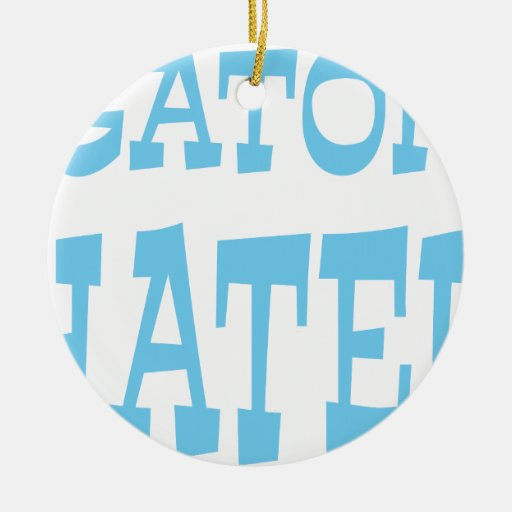Gator Hater Carolina Blue design Christmas Ornaments