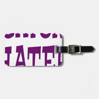 Gator Hater Dark Purple design. Luggage Tag