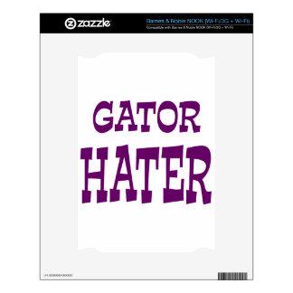 Gator Hater Dark Purple design. NOOK Skin