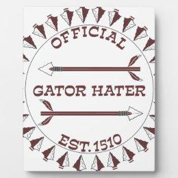 Gator-Hater-est-garnet.gif Plaque