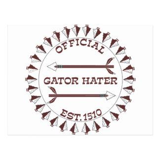 Gator-Hater-est-garnet.gif Post Cards