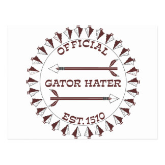 Gator-Hater-est-garnet Postcard
