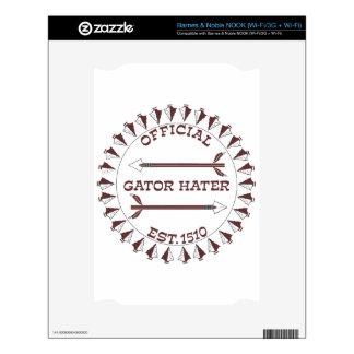 Gator-Hater-est-garnet Skin For The NOOK
