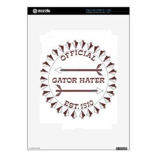 Gator-Hater-est-garnet Skins For The iPad 2