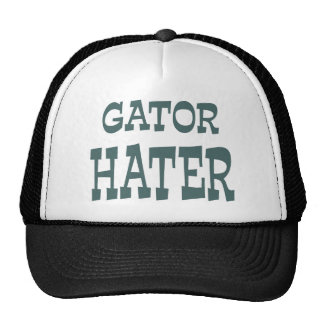 Gator Hater Forest Green apparel design Trucker Hat