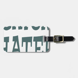 Gator Hater Forest Green design Luggage Tag