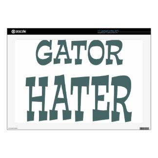 "Gator Hater Forest Green design 17"" Laptop Skin"