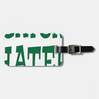 Gator Hater Grass Green design Bag Tag