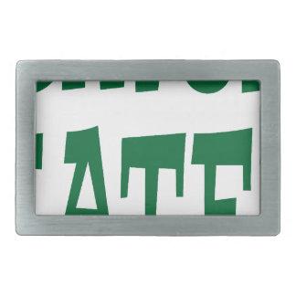 Gator Hater Grass Green design Belt Buckle