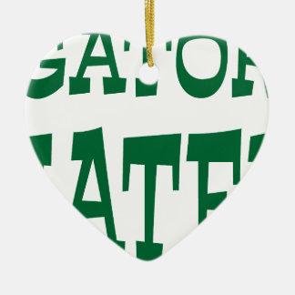 Gator Hater Grass Green design Ceramic Ornament