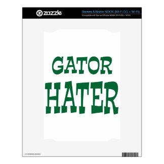 Gator Hater Grass Green design NOOK Skins