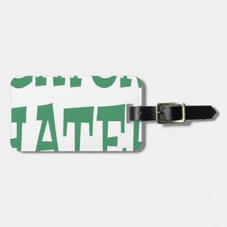 Gator Hater Irish Green design Bag Tag