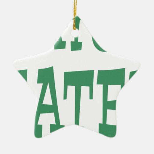 Gator Hater Irish Green design Christmas Tree Ornament