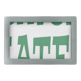 Gator Hater Irish Green design Rectangular Belt Buckle