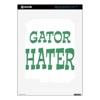 Gator Hater Irish Green design iPad 3 Decals