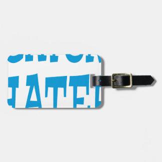 Gator Hater Light Blue design Bag Tag