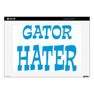Gator Hater Light Blue design Decal For Laptop