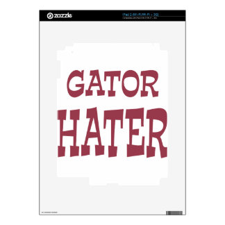 Gator Hater Maroon design iPad 2 Skin