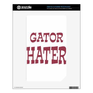 Gator Hater Maroon design Skins For NOOK Color