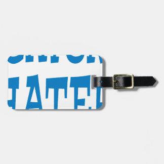 Gator Hater Powder Blue design Luggage Tag