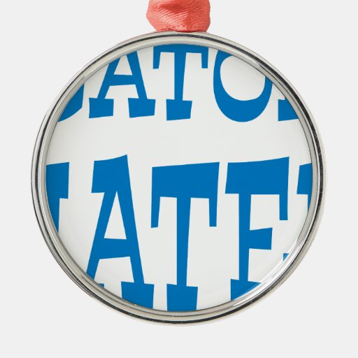 Gator Hater Powder Blue design Ornament