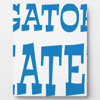 Gator Hater Powder Blue design Plaque
