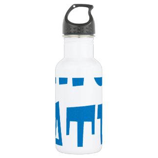 Gator Hater Powder Blue design Water Bottle
