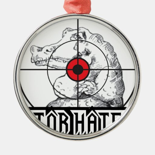 Gator Hater Target Christmas Tree Ornaments