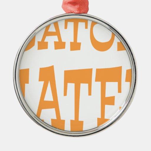 Gator Hater Tenn Orange design Christmas Ornament