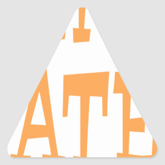 Gator Hater Tenn Orange design Triangle Stickers