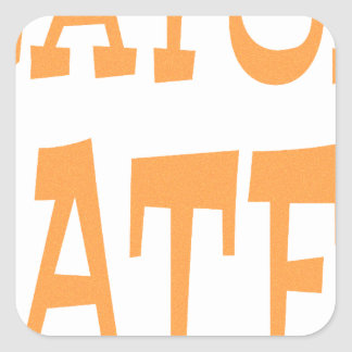 Gator Hater Tenn Orange design Square Sticker