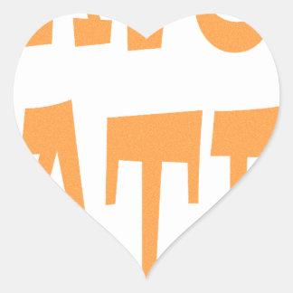 Gator Hater Tenn Orange design Heart Stickers