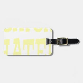 Gator Hater Vegas Gold design Luggage Tag