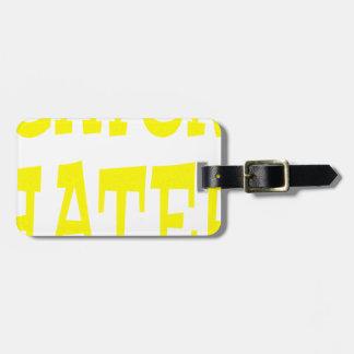 Gator Hater Yellow design Bag Tag