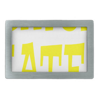 Gator Hater Yellow design Rectangular Belt Buckle
