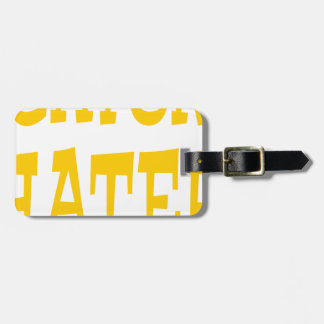 Gator Hater Yellow Gold design Bag Tag