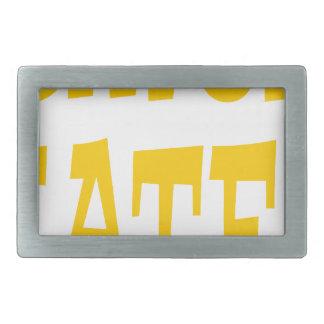 Gator Hater Yellow Gold design Belt Buckle