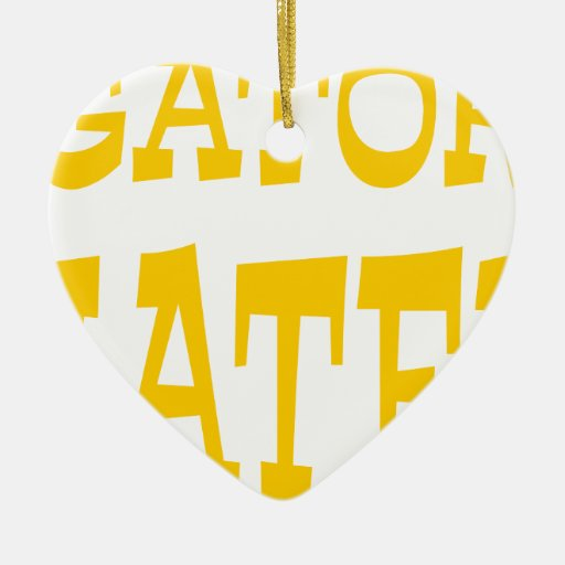 Gator Hater Yellow Gold design Ornaments