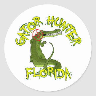 Gator Hunter Florida Classic Round Sticker