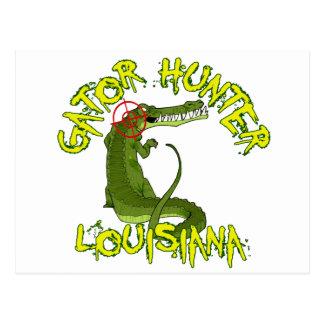 Gator Hunter Louisiana Postcard