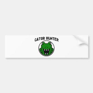 Gator Hunter Symbol Bumper Sticker