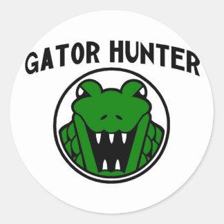 Gator Hunter Symbol Classic Round Sticker