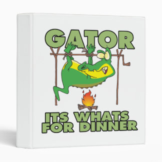 GATOR its whats for dinner funny cartoon 3 Ring Binder